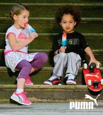 children's puma tennis shoes