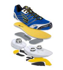 Spira Aquarius Men's Training Shoes Size US 12, Wide Width, Color Charcoal/Blue.