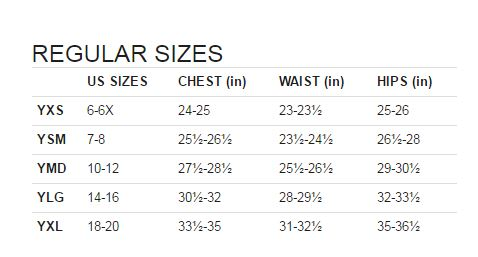 under armour t shirt size guide