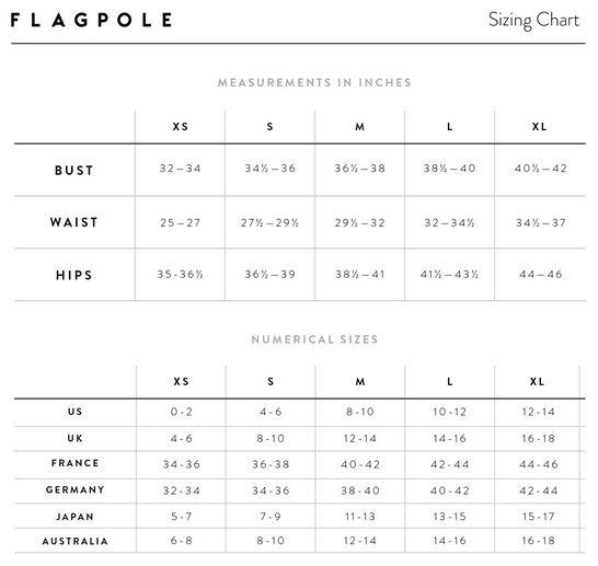 Sku 9053674 Flagpole Womens Swimwear Size Chart