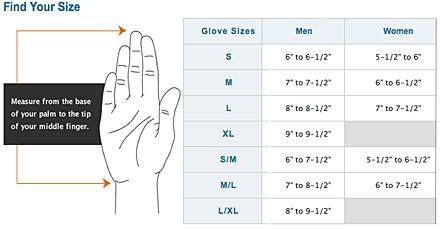 ugg gloves size chart