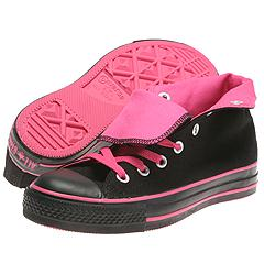 Converse - All Star Hi Roll Down (Black/Neon Pink) - Women's
