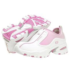Skechers Kids - Vigor  Pizzaz (Children/Youth) (White/Hot Pink) - Kids