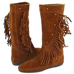 Minnetonka Calf Hi Fringe Boot