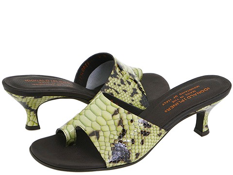 Donald J Pliner - Valore9 (Khaki Python Patent) - Footwear