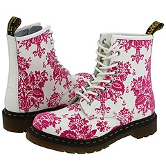 Dr. Martens - 1460 W (White/Pink Floral) Boots