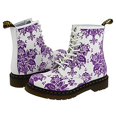 Dr. Martens - 1460 W (White/Lilac Floral) Boots