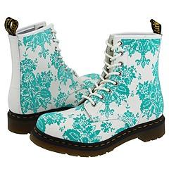 Dr. Martens - 1460 W (White/Aqua Floral) Boots