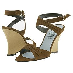 Cynthia Rowley - Trade (Espresso Suede/Natural Linen)     Manolo Likes!  Click!