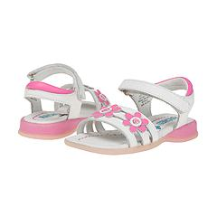 Rachel Kids - Daisy (Infant/Children) (White Leather/Fuschia Flowers) - Kids