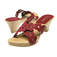Lauren by Ralph Lauren - Viviana-suede/patent leather (Red Suede/Patent Leather) - Women's