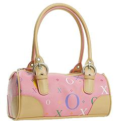 XOXO Handbags - Martinique II Pink Log Satchel (Pink)