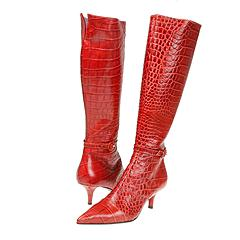 Nancy Nancy - Damian (Red Croc Print)   Manolo Likes!