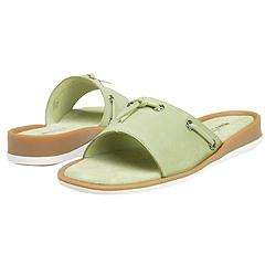 Minnetonka - New Mesa Slide (Celery Nubuck Leather) - Women's