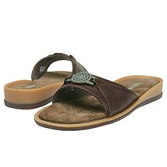 Minnetonka - New Sedona Slide (Brown Smooth Leather) - Women's