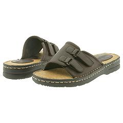 Minnetonka - New Adjustable Slide (Brown Smooth Leather) - Women's