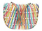 More information or Buy online Inge Sport Handbags - Colorful Leather Strips Shoulder Bag (White) - Accessories