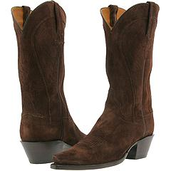 Lucchese - G9706 (Chocolate Cashmere Suede) - Women's