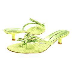Beverly Feldman - Sexy-Straw Sandal (Lime Rafia)    Manolo Likes!  Click!