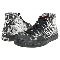 Vision Street Wear - Alphabarb High Top (White/Black) - Men's
