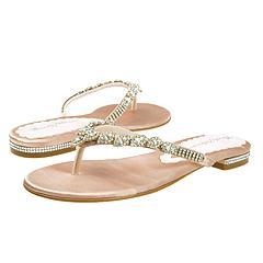 Beverly Feldman - Tiffany Flat Sandal (Pale Pink Satin) - Women's