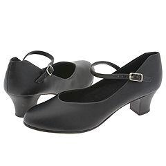 Capezio - Jr. Footlight Black Womens Tap Shoes $40.00 AT vintagedancer.com