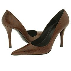 Stuart Weitzman Fever (CafÉ Indian Croco) - High Heel Dress Shoes :  high heels womens brown womens shoes