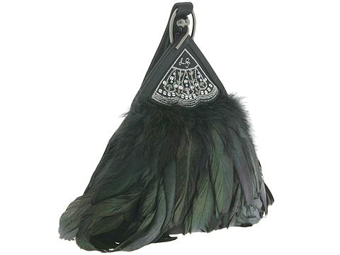 Lulu Guiness Feather Drop Fan Handbag   Manolo Likes!  Click!