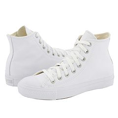 Converse Chuck Taylor All Star Leather Hi White Monochrome Classic Shoes