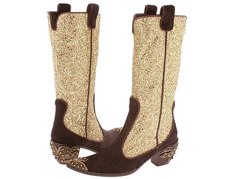 Giuseppe Zanotti I5882 Moro Pony/Oro Glitter - Footwear