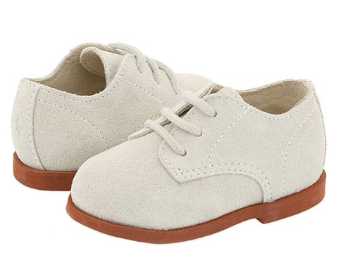 Polo Ralph Lauren Kids Morgan Hard Sole (Infant/Toddler) - White Suede