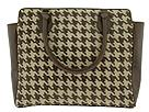 Inge Sport Handbags - Houndstooth Weave Large Tote (Brown) - Accessories