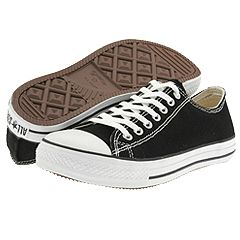 Converse All Star® Loose Fit Ox (Canvas) (Black) - Converse® Women's Footwear from zappos.com