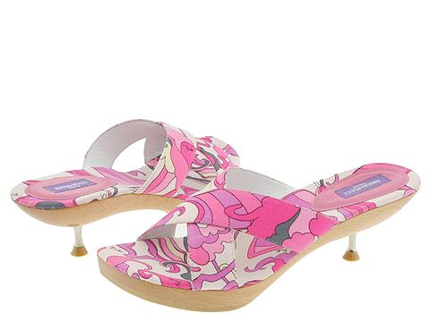 Emilio Pucci 763472 (Pink) - Slides Dress Sandals :  pucci sandals shoes pretty in pink