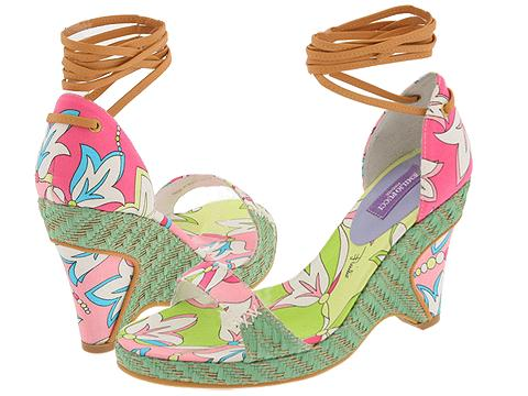 Emilio Pucci 763886 (Bluebell/Natural/Green) - Strappy Dress Sandals