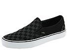 Vans - Classic Slip-On ((Checkerboard) Black/Black) - Footwear