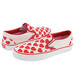 Vans Classic Slip-On - Hearts :  classic tennis shoe sneaker slip-on