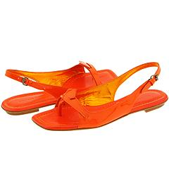 Sigerson Morrison 6153 (Orange Patent) - Women's :  sandal zappos slingback orange