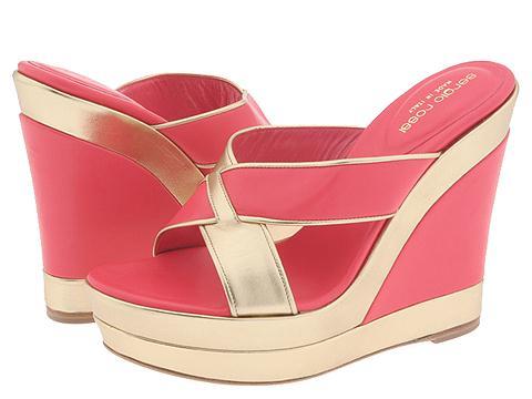 Sergio Rossi Dinasty Gold/Coral - Footwear