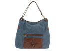 Liz Claiborne Handbags - Broadway Stratford Large Leather Hobo (Denim - 982) - Accessories