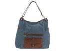 Liz Claiborne Handbags - Broadway Stratford Large Leather Hobo (Denim - 982) - Accessories