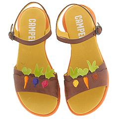 Camper Twins-20041 (Dark Brown Leather) - Camper® Women's Twins Collection :  shoes sandals leather brown
