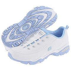 Skechers Top Dog (White With Light Blue) - Women's :  blue sneaker slip-on skechers