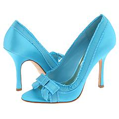 J Lo Erika Blue Satin Pumps :  blue pumps shoes satin