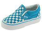 Vans Kids - Classic Slip-On (Infant/Toddler) (Blue Jewel/True White Small Checkerboard) - Kids