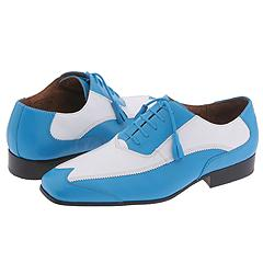 Giorgio Brutini 15789 (Montana Buff Calf Teal/White) - Two Tone Casual Oxford
