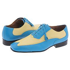 Giorgio Brutini 15789 (Montana Buff Calf Teal/Yellow) - Two Tone Casual Oxford