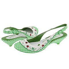 Irregular Choice Lady Bug 3076-2 A (Green White Gingham) - Women's