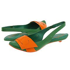 Irregular Choice Blatent Patent 2679-5 D (Green Patent / Orange Patent) - Women's :  slingback patent orange green