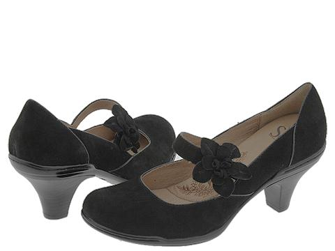 Sofft Calypso (Black/Suedes) - Sofft Women's Shoes :  mary janes low heels shoes